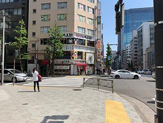 「今井橋」交差点をそのまま直進します。